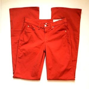 Rag & Bone Orange Wide Leg Jeans size 27